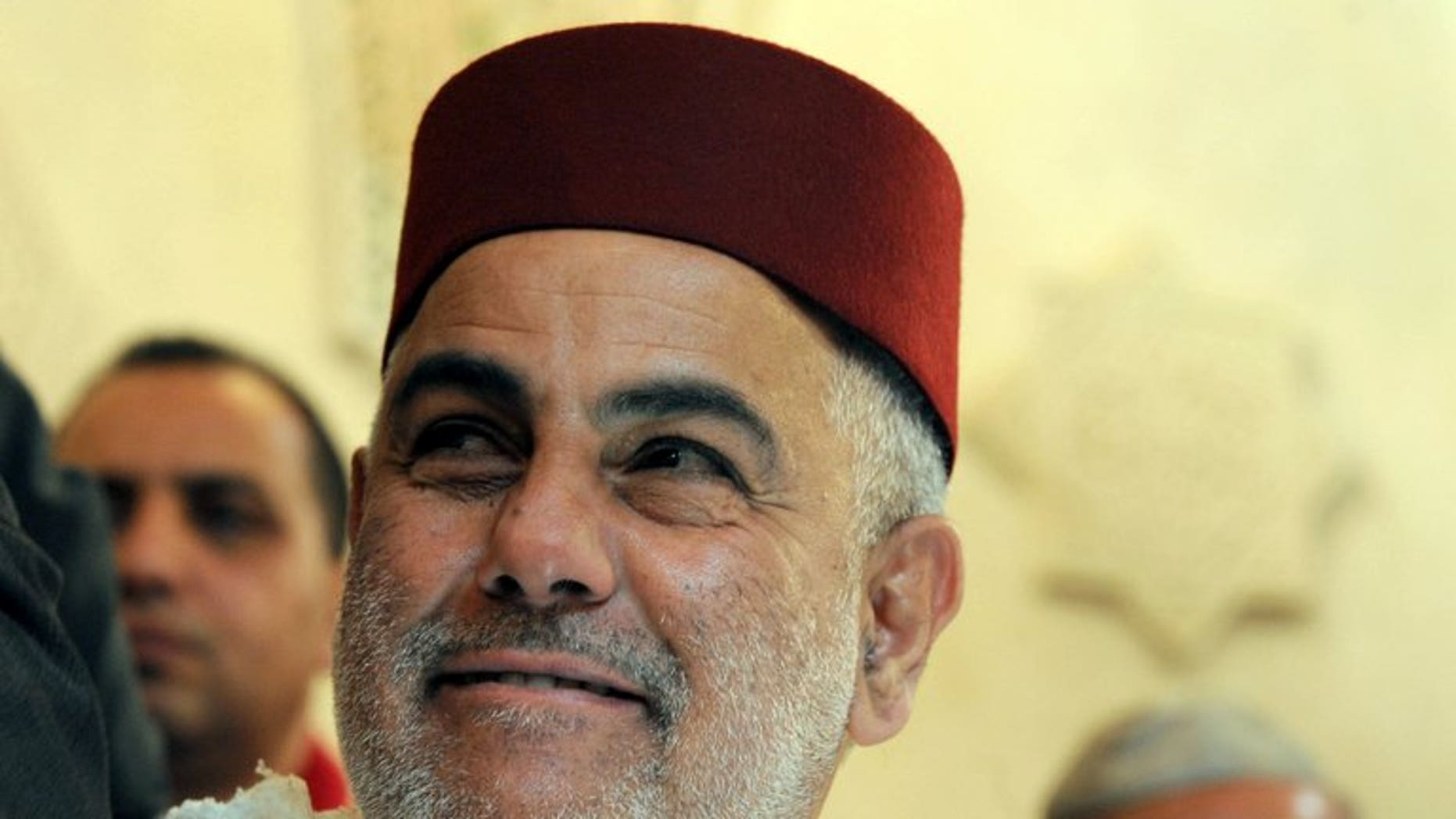 Moroccan Prime Minister Abdelilah Benkirane is pictured in Fez, on February 13, 2013. A wealthy Moroccan businessman was named interim finance minister on Friday, as the ruling Islamist party pursues efforts to form a new coalition government after its main ally quit.