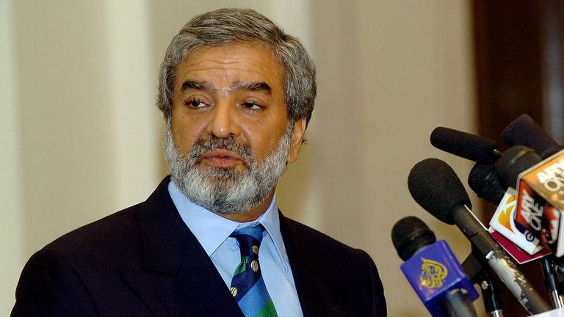 Ehsan Mani at a press conference in Lahore in 2004. Pakistan cricket authorities Friday announced the much-awaited sale of broadcast rights for two home series on the recommendation of a bids committee headed by Mani.