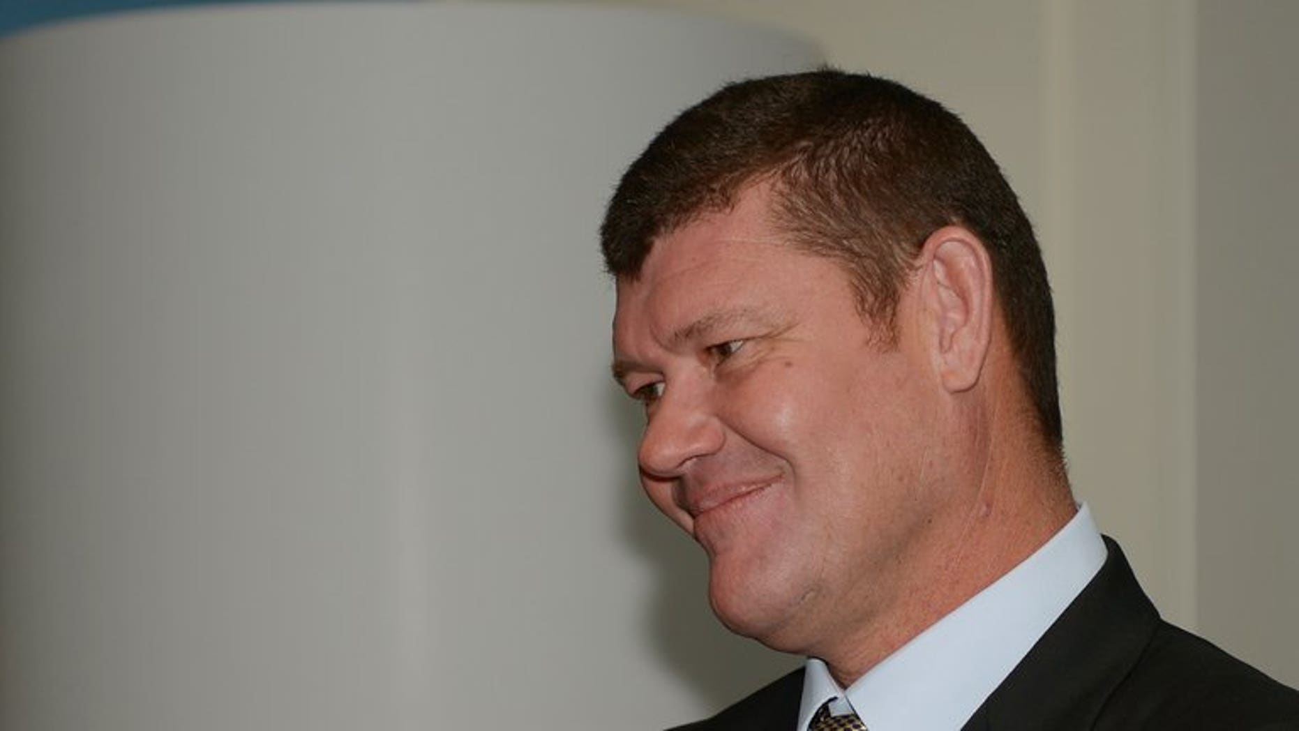 Australian billionaire James Packer in Sydney on July 23, 2013. He and his second wife Erica Baxter have announced their separation after six years of marriage.