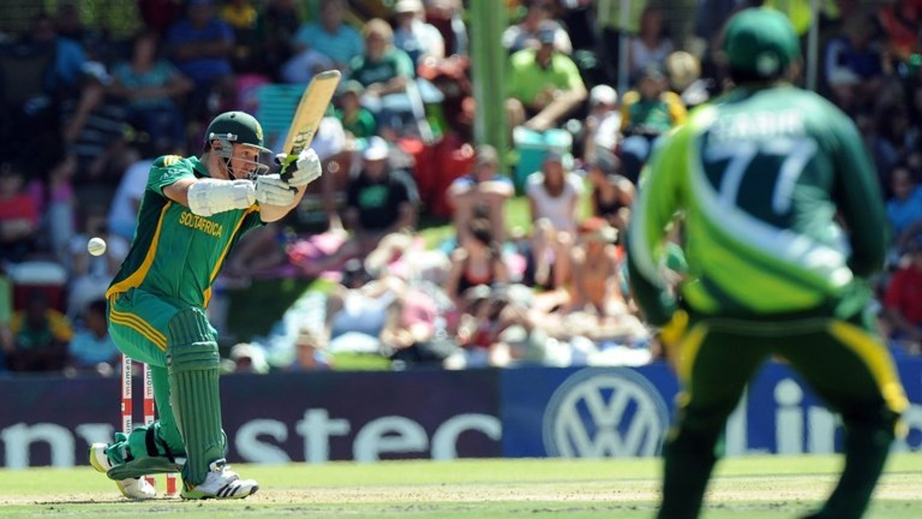 Graeme Smith plays a shot in a one day game against Pakistan in Bloemfontein on March 10. The South Africa captain was named Tuesday for a two-Test October series against Pakistan in the United Arab Emirates after recovering from foot surgery.