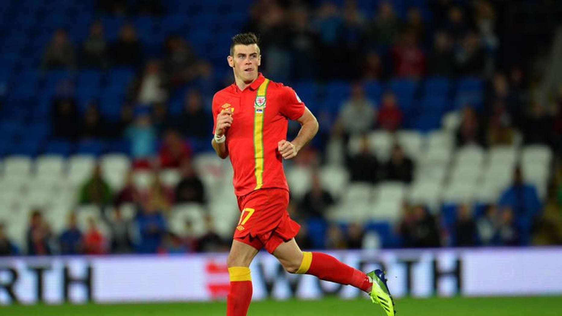 Wales' Gareth Bale comes on as a substitute during the World Cup 2014 European Zone group A qualifying football match between Wales and Serbia at Cardiff City Stadium in south Wales, on September 10, 2013.