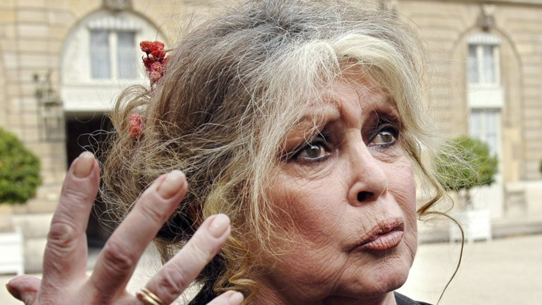 "French animal rights activist Brigitte Bardot, pictured on September 27, 2007, on Wednesday called Romanian President Traian Basescu a ""tyrant"" for backing a law allowing stray dogs to be put down."