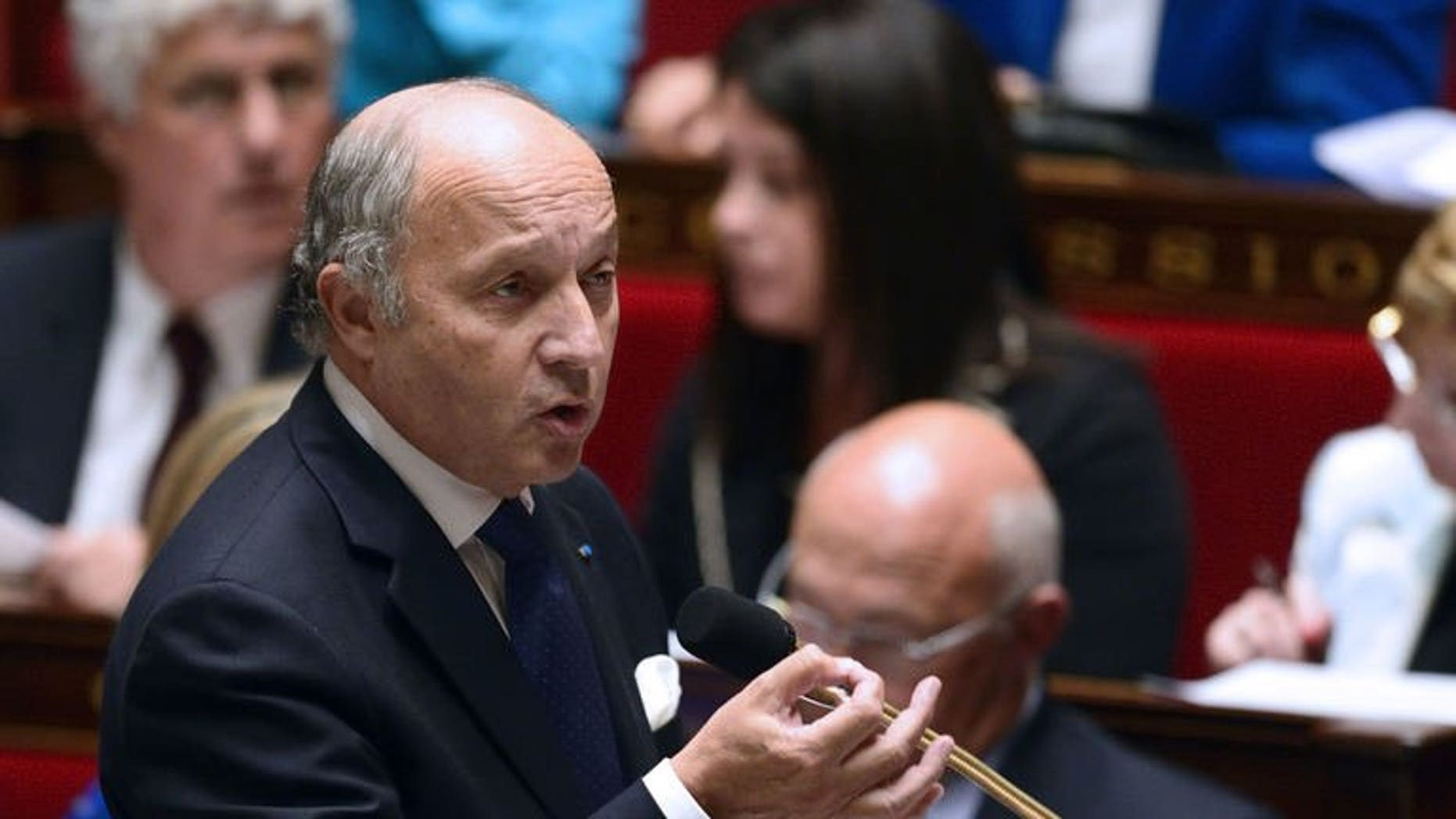 French Foreign Minister Laurent Fabius, pictured on September 11, 2013, will visit China to discuss Syria on Sunday, his ministry said, amid ongoing diplomatic efforts to end the crisis in the war-torn country.