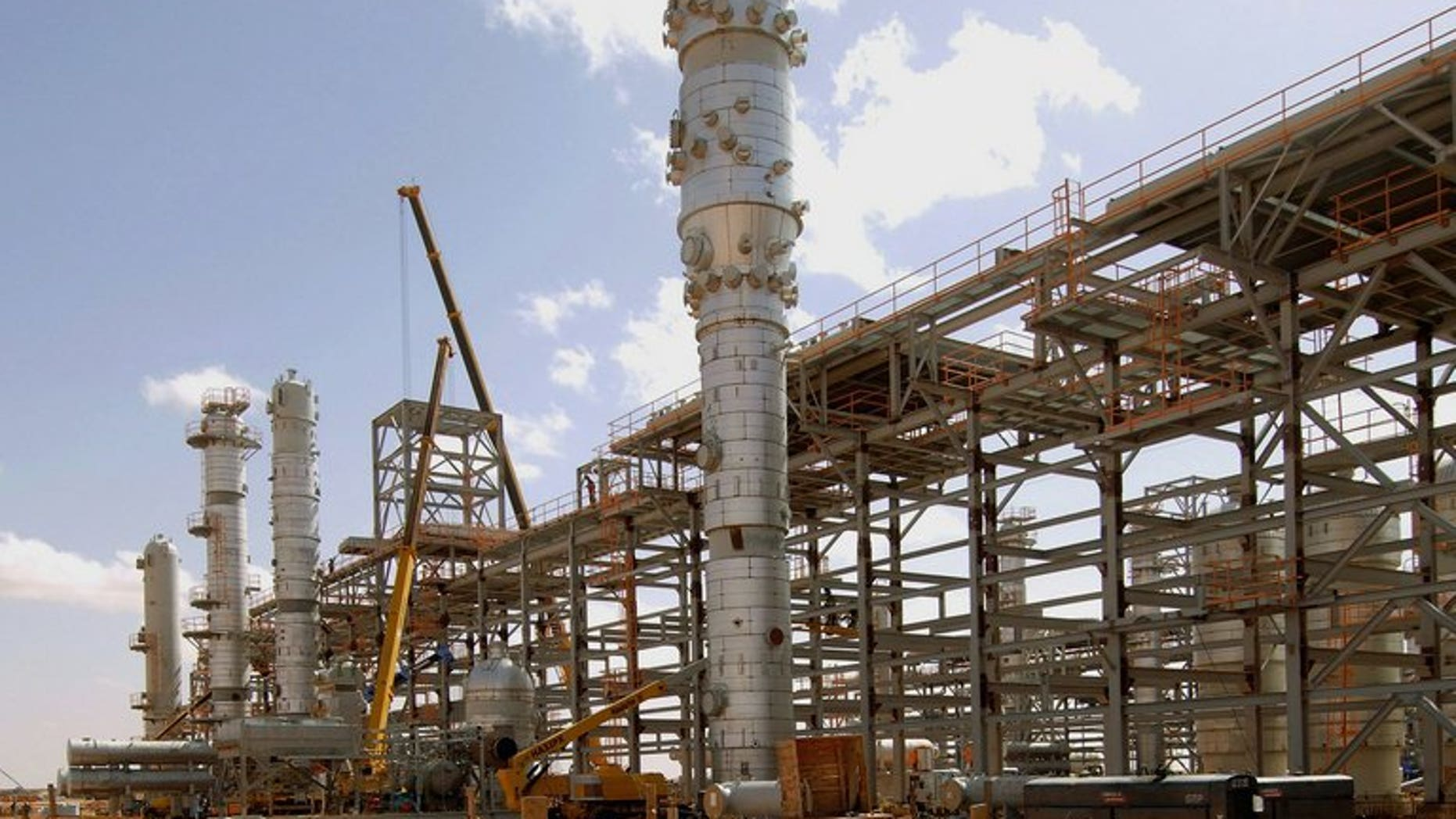 In Amenas gas field in eastern Algeria near the Libyan border.