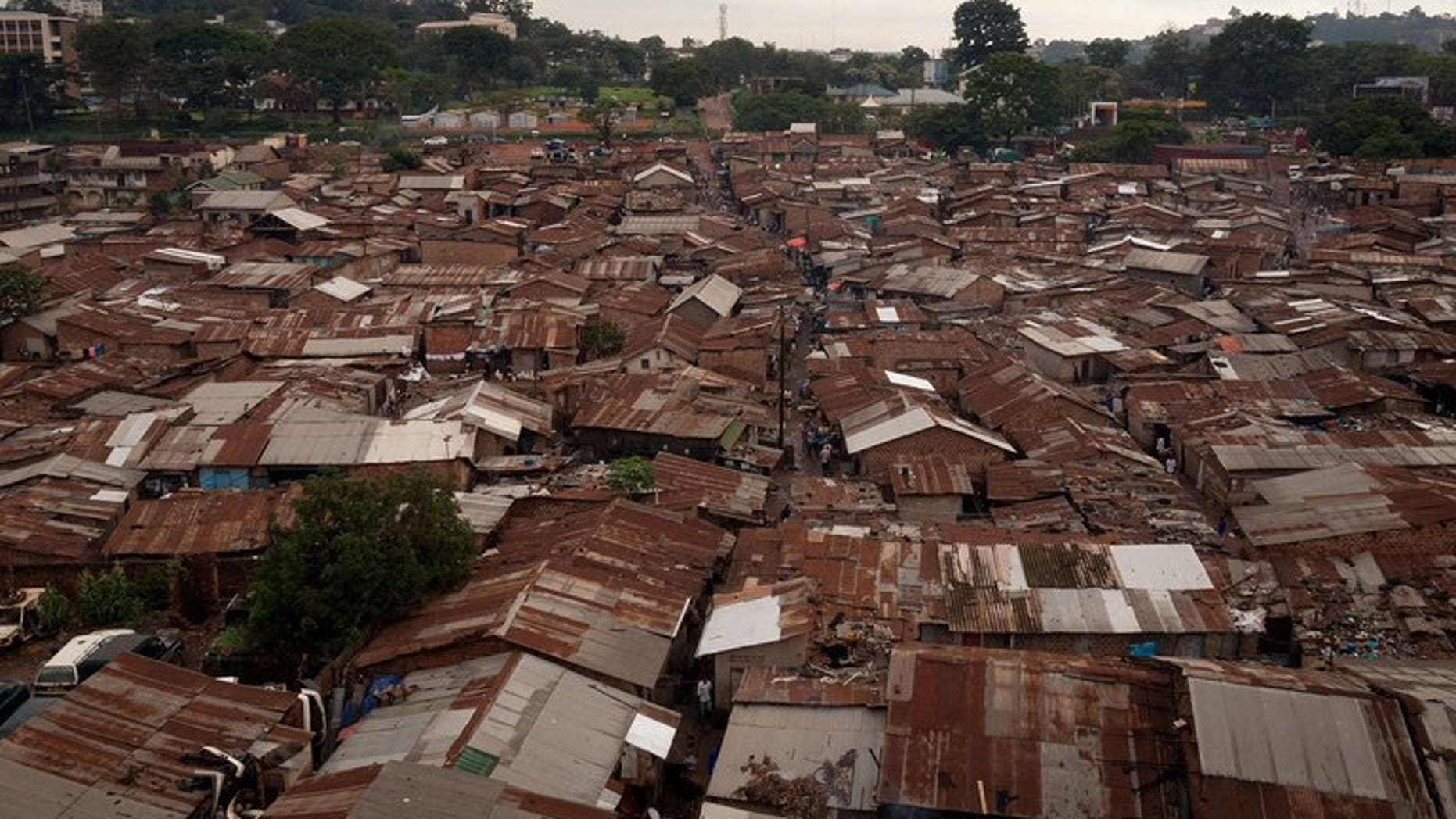 A general view of the Kataanga slum in the Ugandan capital, Kampala, on December 18, 2012. A Ugandan court has given a symbolic six-hour jail term to a teenage girl who killed her rapist father in a case that has drawn a wave of public sympathy.