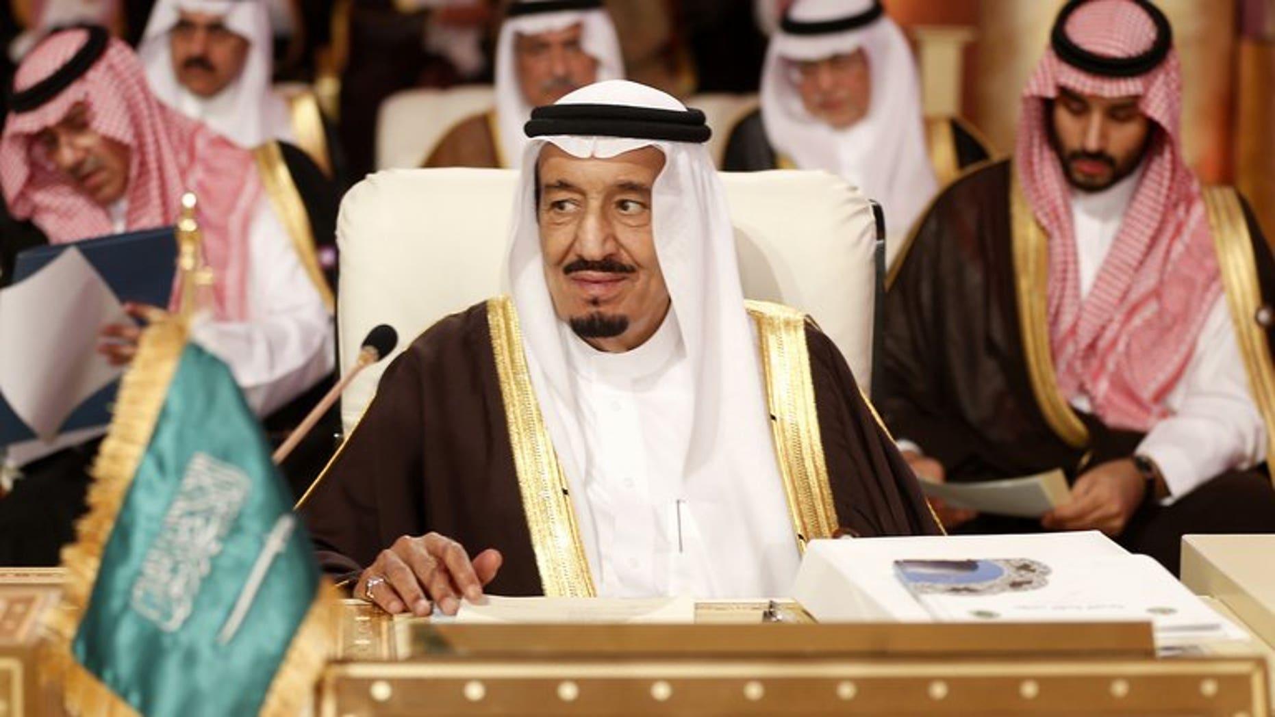 Saudi Crown Prince Salman bin Abdul Aziz in the Qatari capital Doha on March 26, 2013.