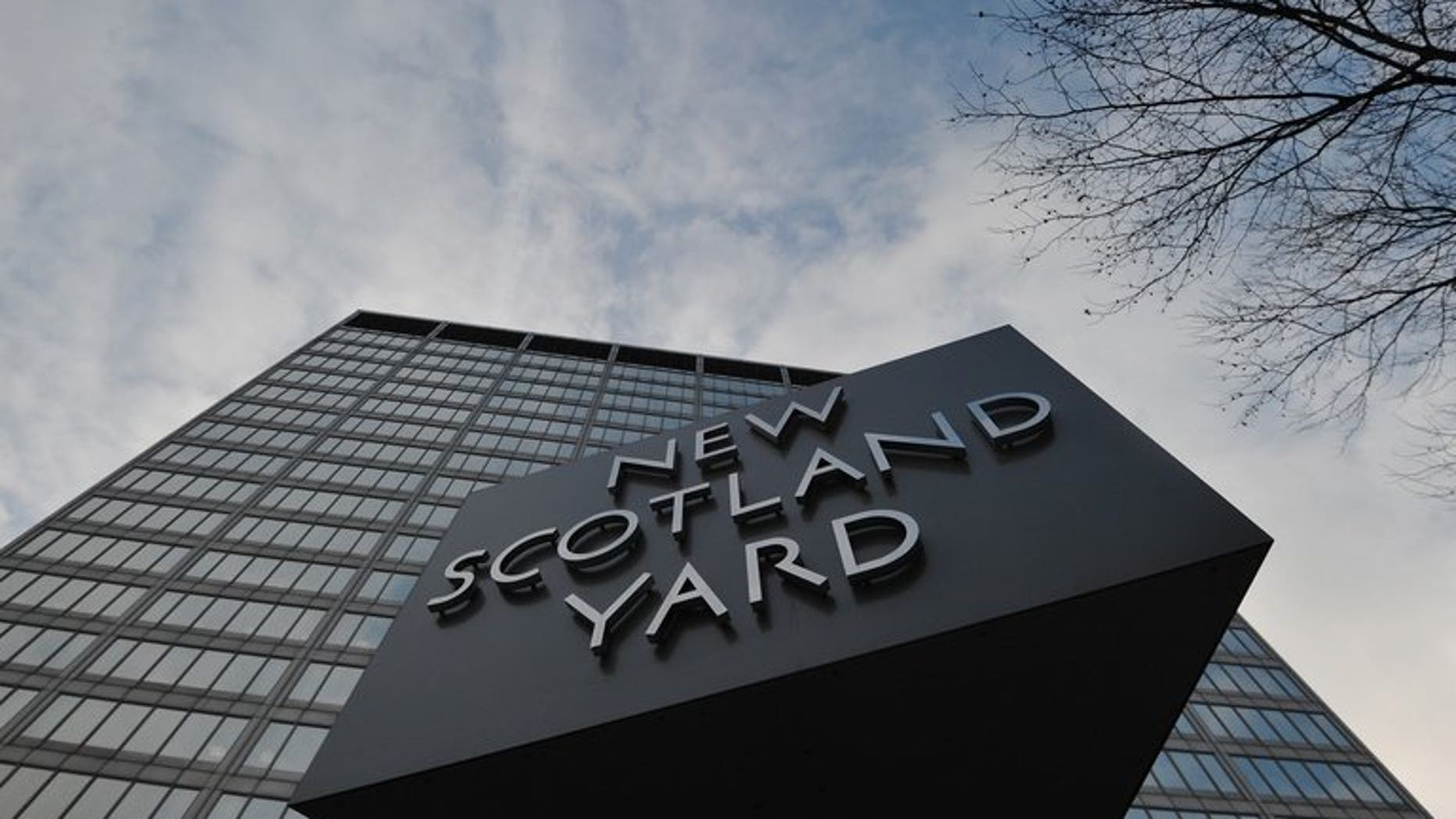London's Metropolitan Police headquarters, pictured on January 11, 2013. Police have arrested two more people over alleged involvement in terrorism in Syria following the discovery of ammunition at the port of Dover.