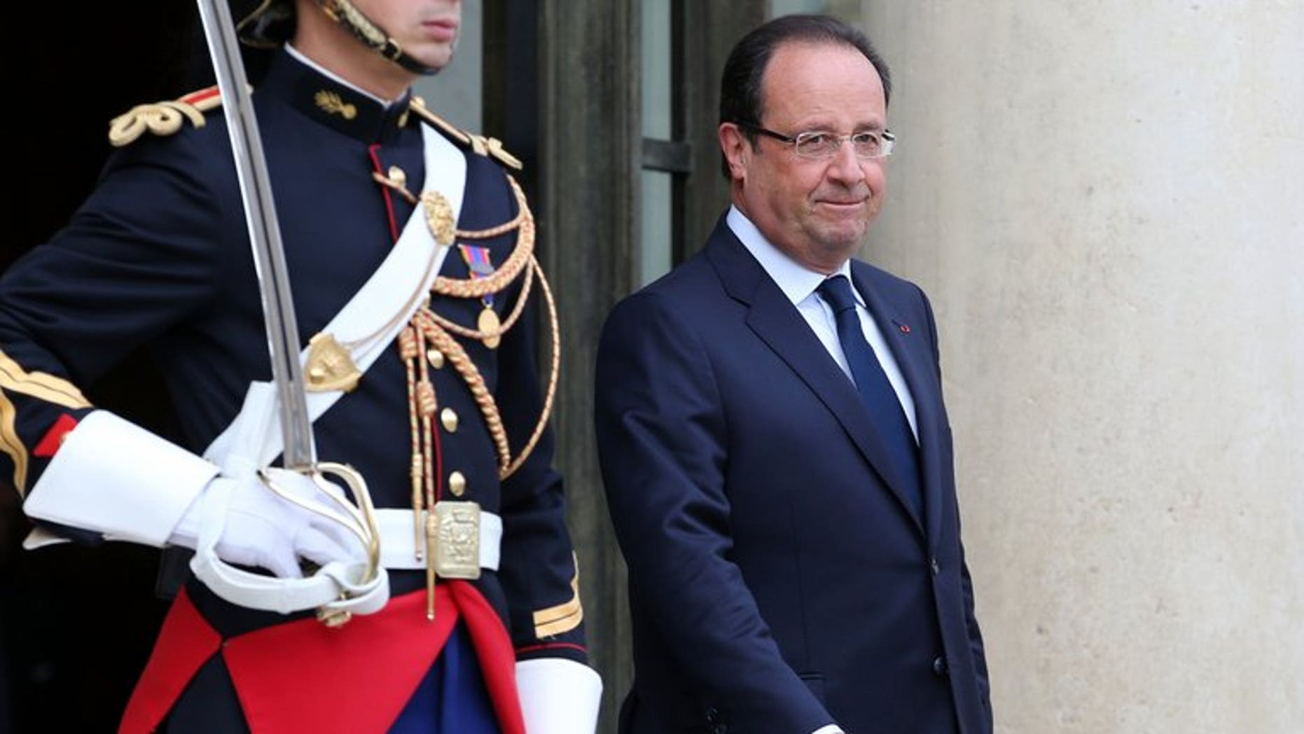French President Francois Hollande is seen at the Elysee presidential Palace on September 17, 2013 in Paris, France.