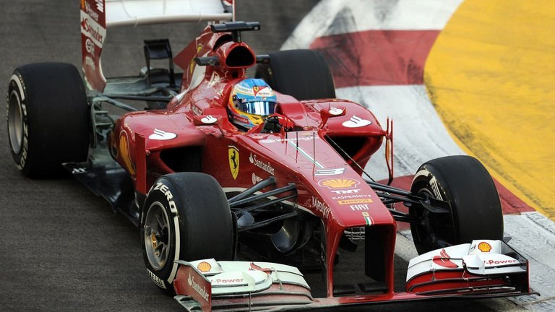 Fernando Alonso drives in the first practice session on September 20, 2013 for the Singapore Grand Prix. McLaren confirmed Friday they are open to the shock return of Ferrari's Fernando Alonso in what would be one of Formula One's most sensational coups.