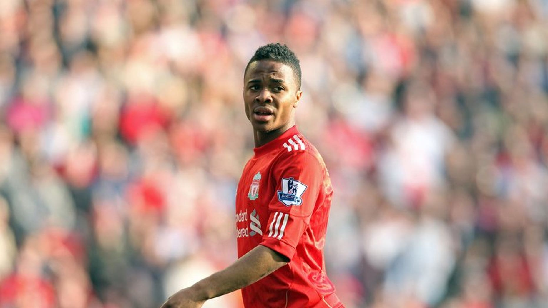 "Liverpool winger Raheem Sterling, pictured on March 24, 2012, was found not guilty of assault on Friday when the case collapsed after his former girlfriend gave ""disappointing"" evidence."