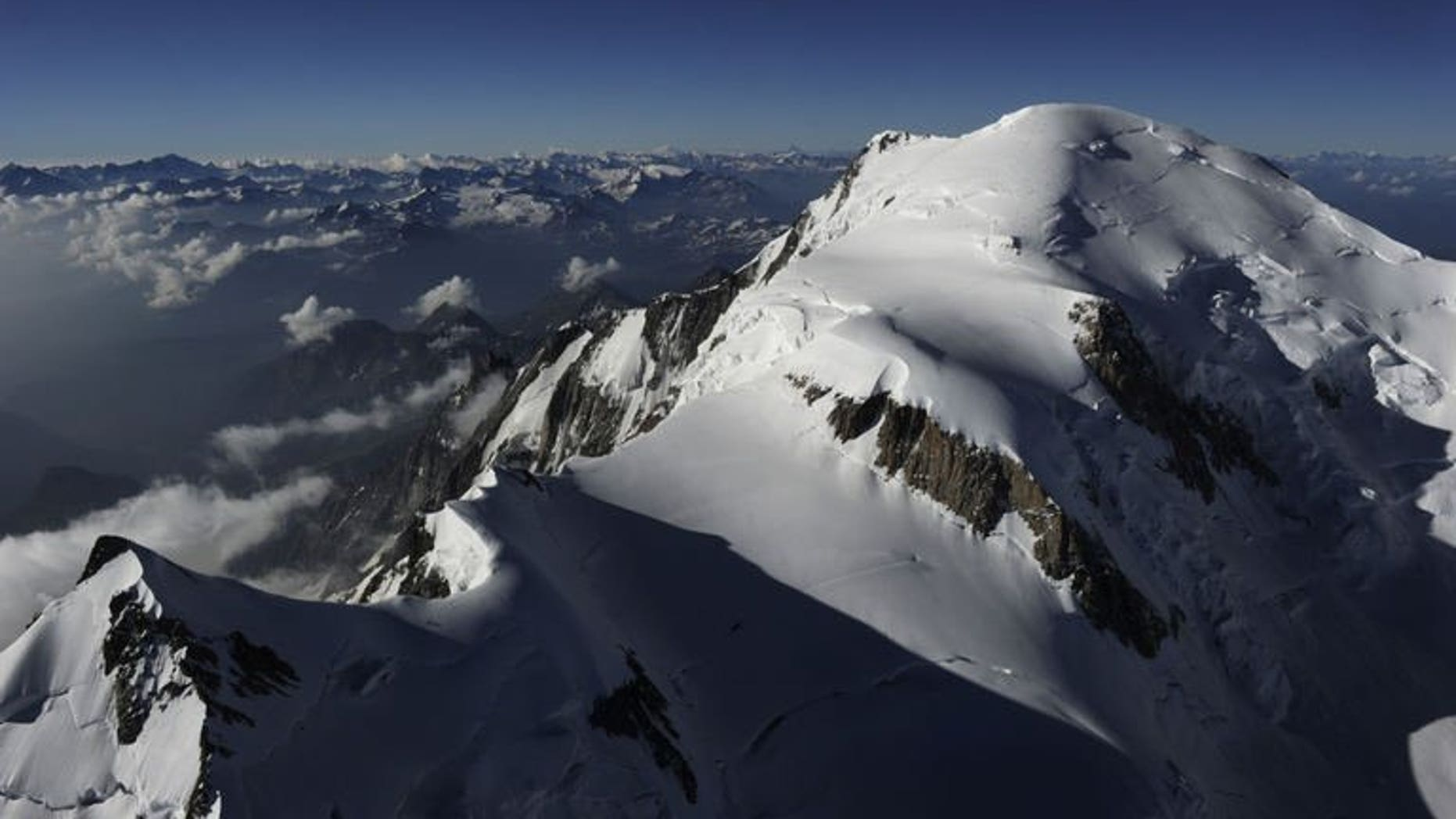 Mont-Blanc, in the French Alps, pictured on July 16, 2010.