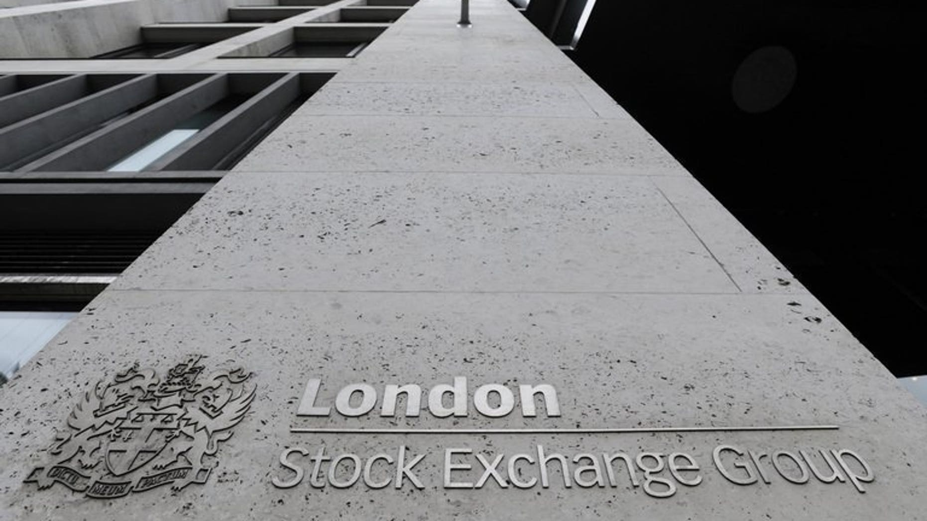 View of the entrance to the London Stock Exchange, on September 22, 2011. London equities drifted higher at the start of trading on Monday, as dealers digested the outcome of Germany's election over the weekend.