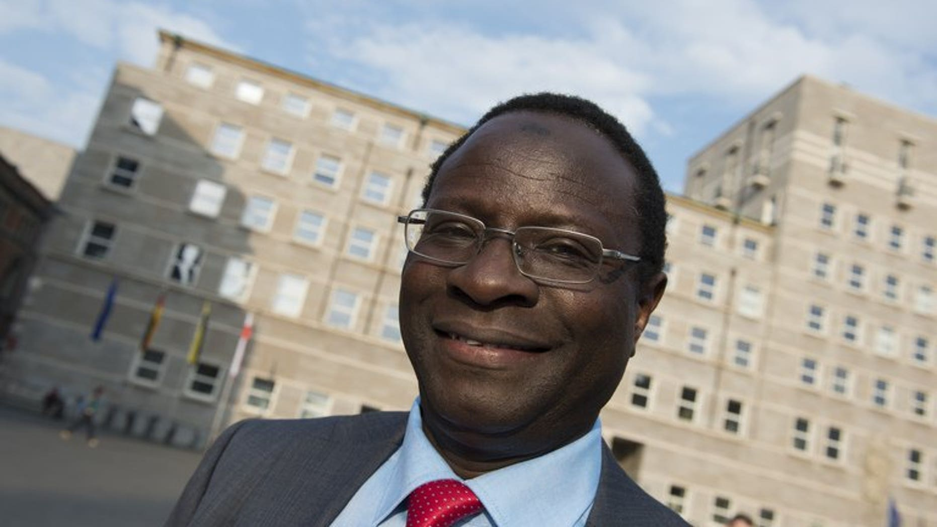 Senegalese-born lawmaker Karamba Diaby in Halle, eastern Germany, on May 6, 2013. Germany's first two lawmakers of African origin cheered their victory as trailblazers after winning in weekend elections.