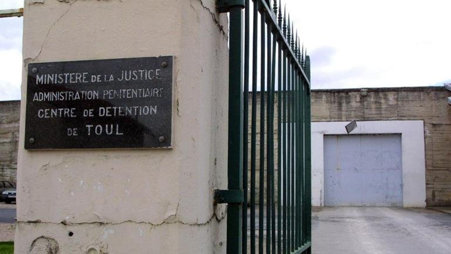 A view of Toul detention centre in eastern France on April 3, 2001. A French mother who allegedly held down her four-year-old son while he was raped by his step-father in the prison's visiting room went on trial in Strasbourg on Monday.