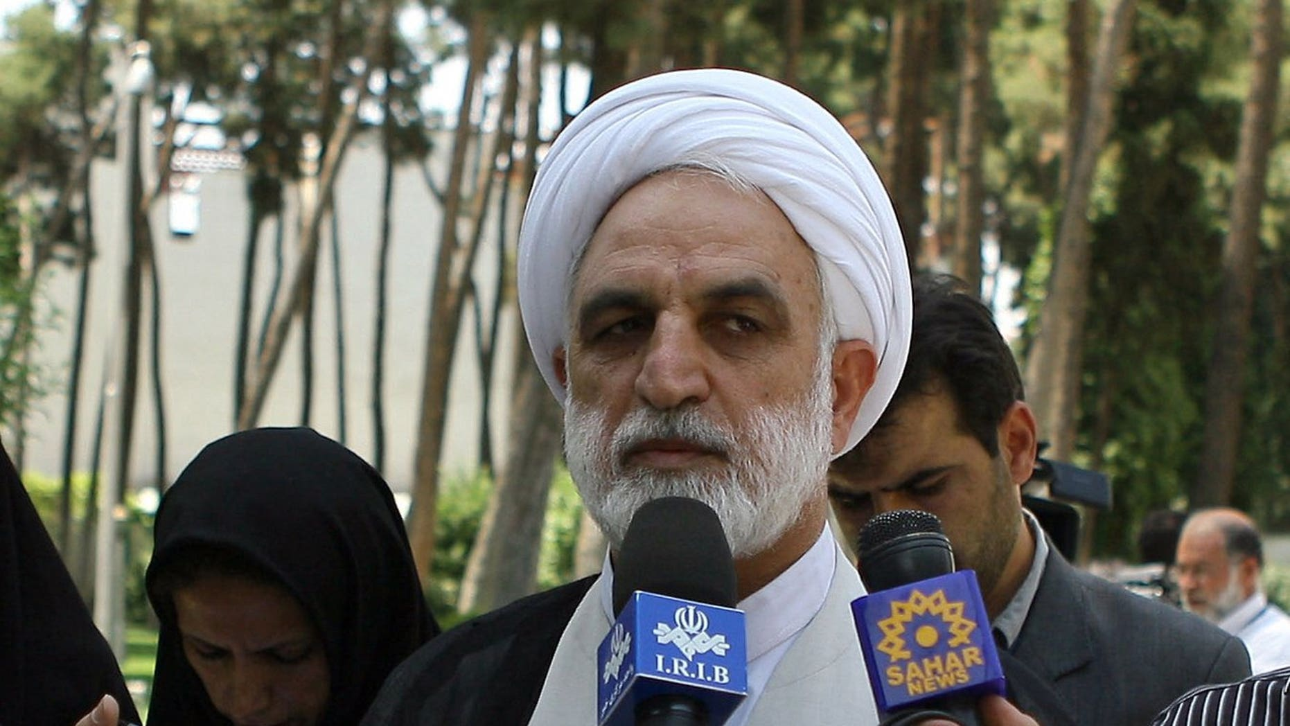 Iran's top prosecutor general Gholam Hossein Mohseni Ejei is pictured in Tehran on June 24, 2009.