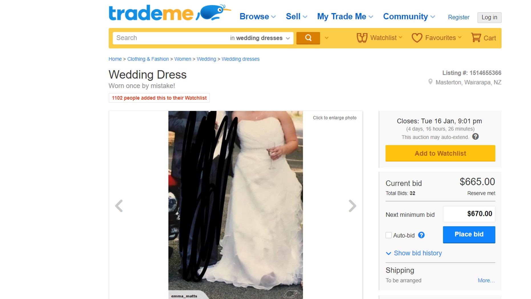 bride posts ad for wedding dress worn once by mistake fox news