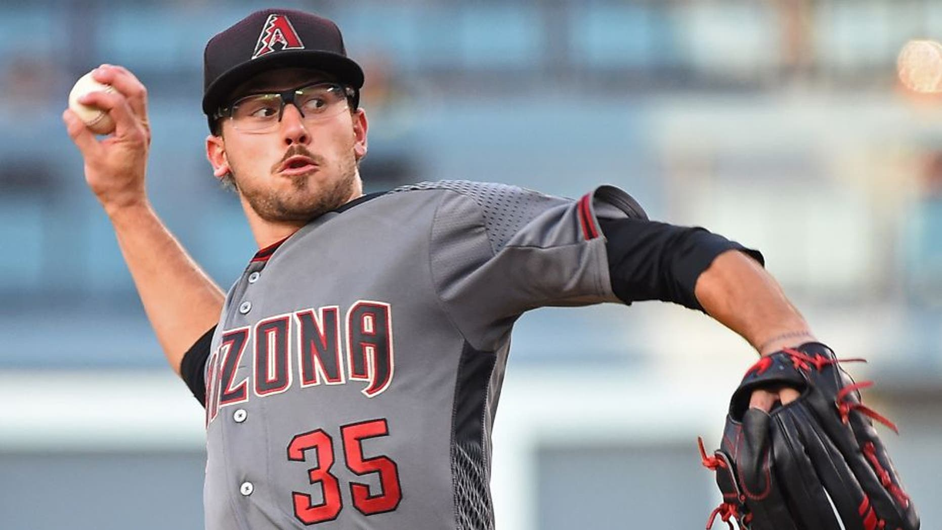 LOS ANGELES, CA - JULY 30: Braden Shipley #35 of the Arizona Diamondbacks in the second inning of the game against the Los Angeles Dodgers at Dodger Stadium on July 30, 2016 in Los Angeles, California. (Photo by Jayne Kamin-Oncea/Getty Images)