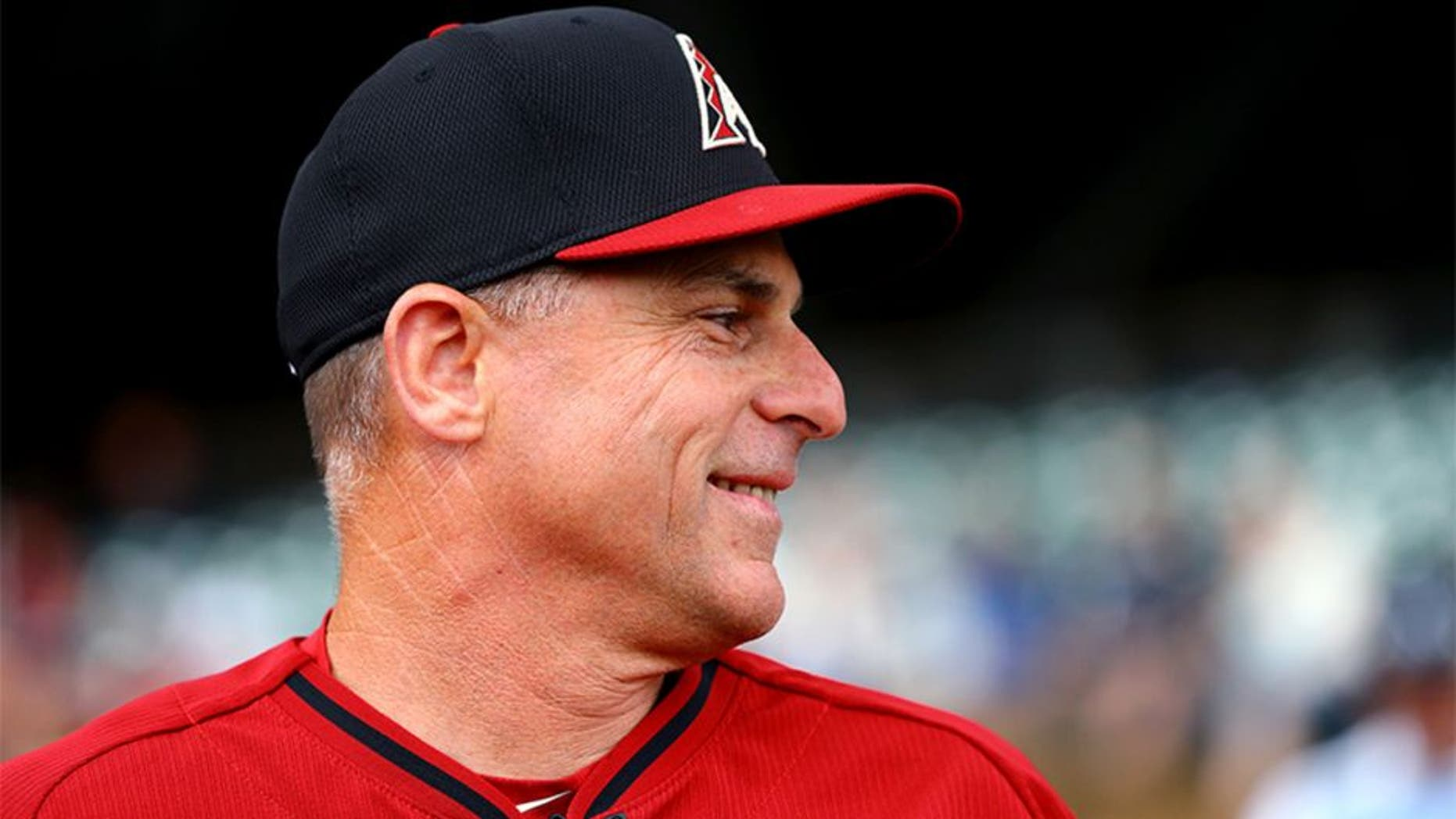Mar 3, 2015; Scottsdale, AZ, USA; Arizona Diamondbacks manager Chip Hale against the Arizona State Sun Devils during a spring training baseball game at Salt River Fields. Mandatory Credit: Mark J. Rebilas-USA TODAY Sports