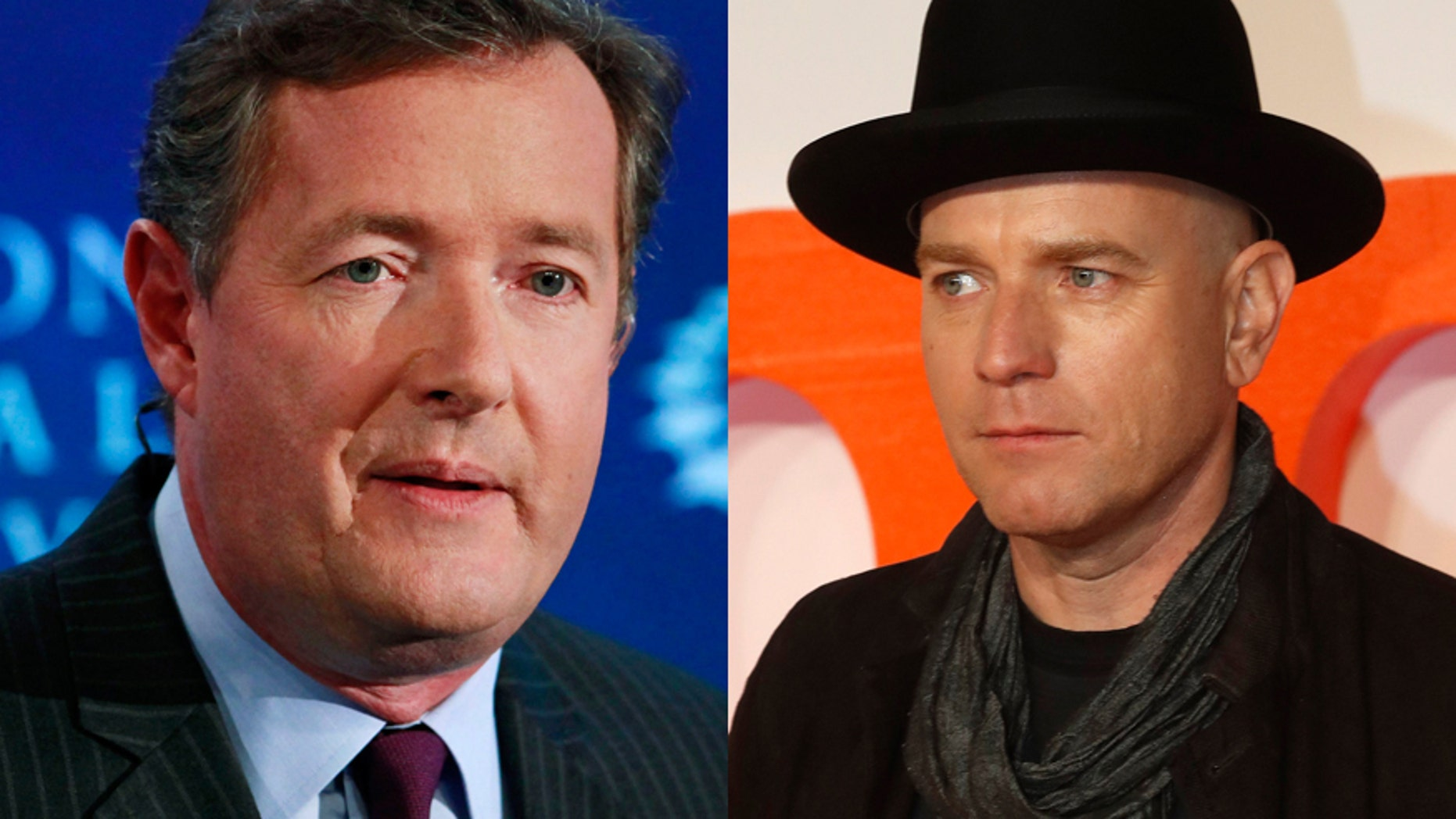 Piers Morgan (left) and actor Ewan McGregor.