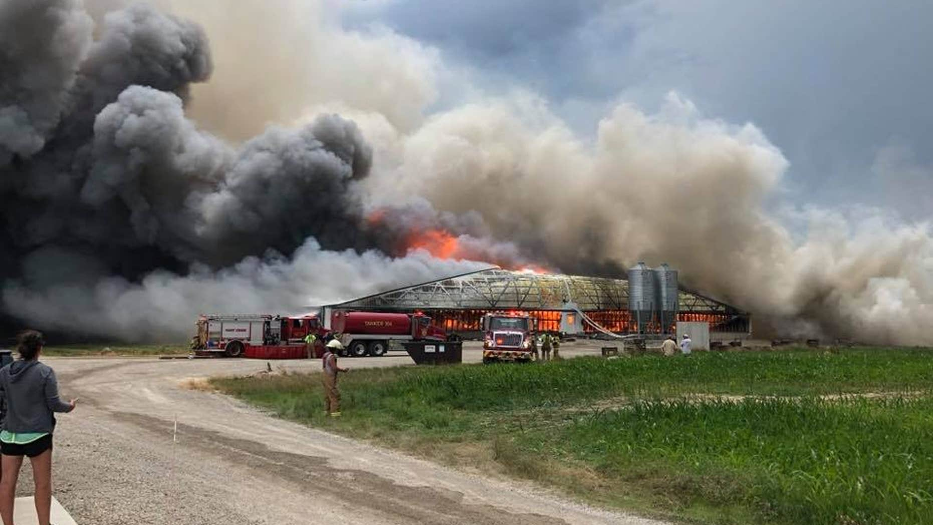 The fire completely destroyed the facility, officials said.