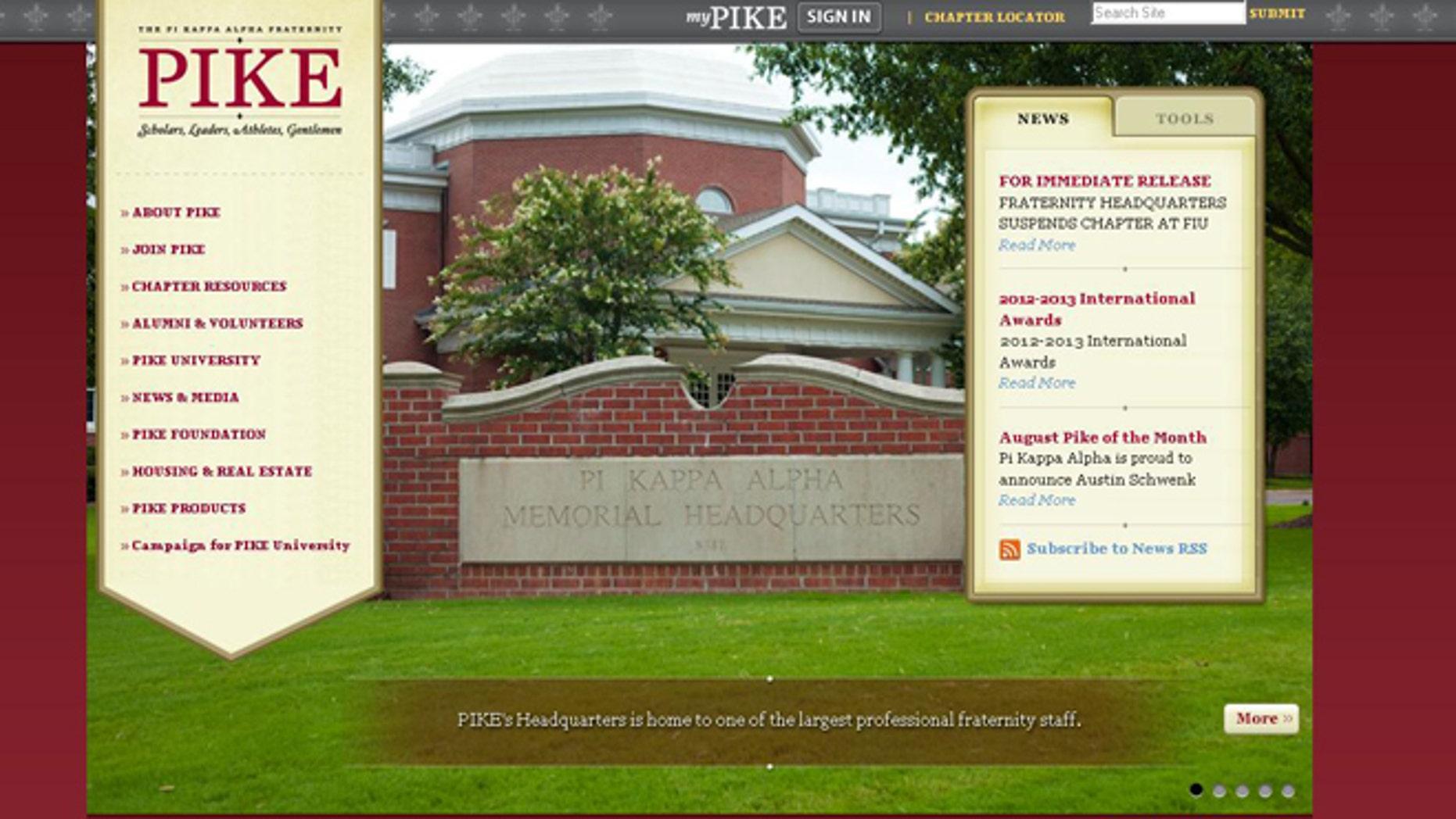 The Pi Kappa Alpha Fraternity's website.