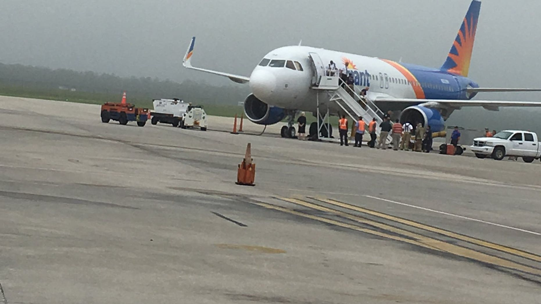 The Allegiant aircraft diverted to Gainesville, Fla., after the pilot reportedly suffered a seizure on the way to Punta Gorda.