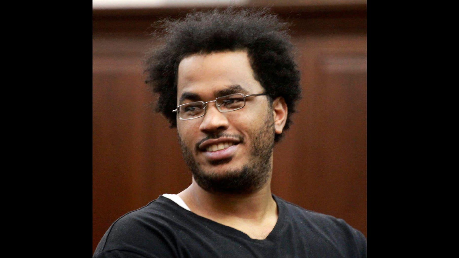 Jose Pimentel during his arraignment at Manhattan criminal court, Nov. 20, 2011, in New York.