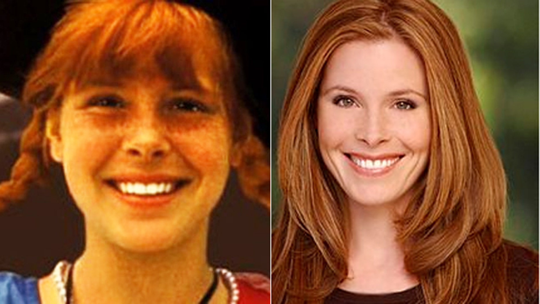 """Tami Erin is seen as """"Pippi Longstocking,"""" left, and in recent years."""