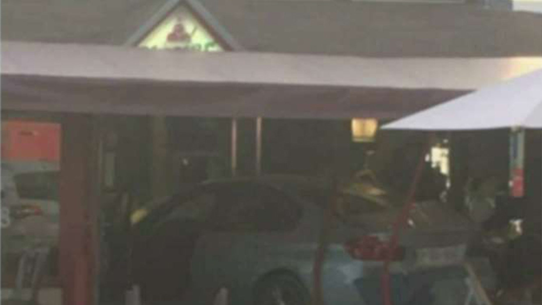 A man intentionally slammed his vehicle into patrons at a pizzeria near Paris on Monday, police say.