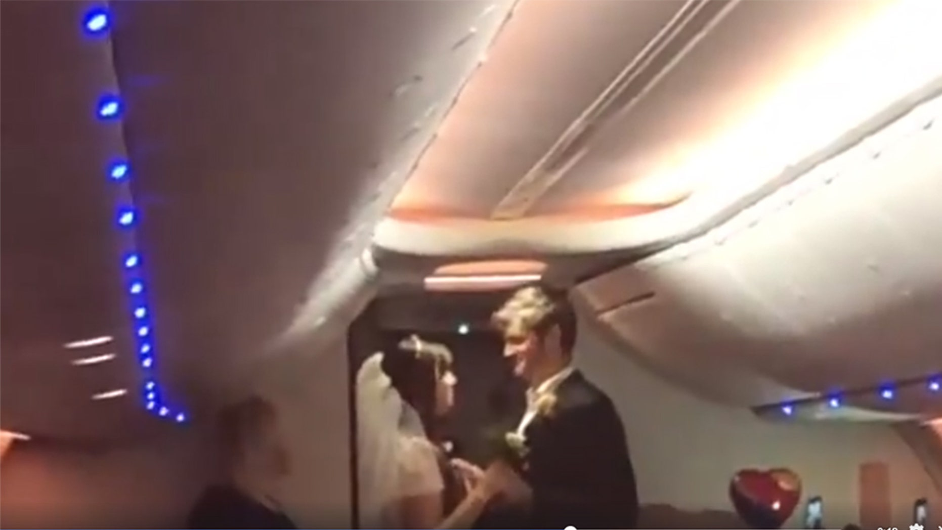 A couple tied the knot on a Southwest flight to Baltimore Sunday night.