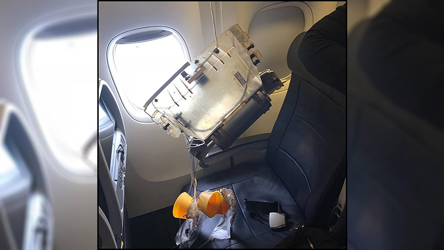 An oxygen canister fell from the ceiling of an American Airlines plane during landing, hitting a small child in the head.