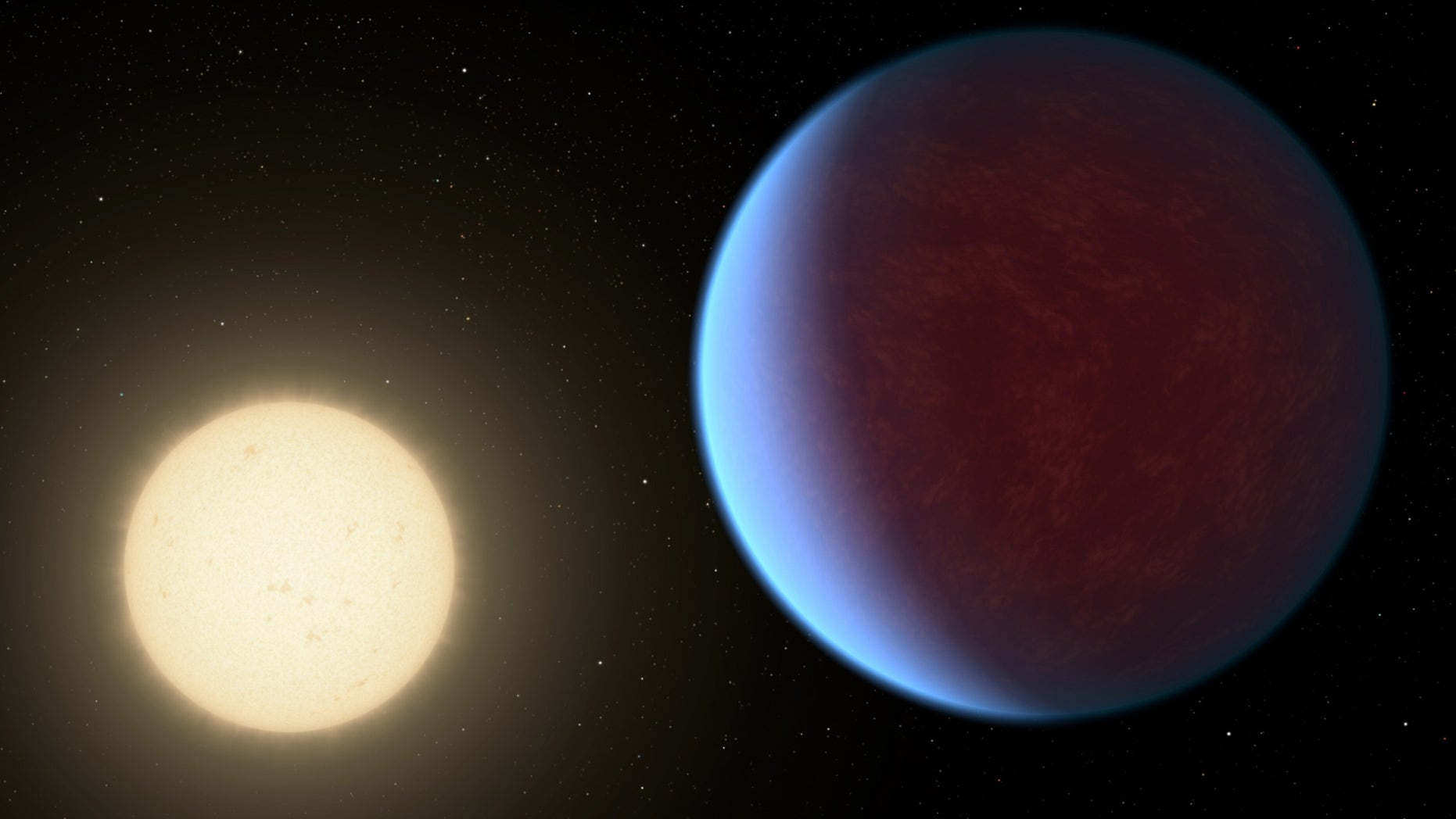 The searing-hot planet 55 Cancri e likely has a thick atmosphere with a similar composition to that of Earth, a new study suggests.