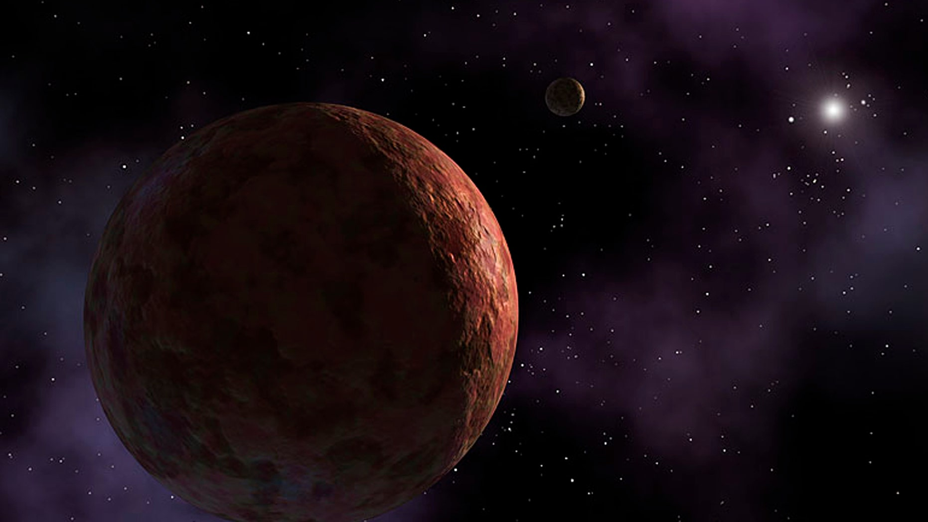 "March 26, 2014: A newly discovered planet-like object, dubbed ""Sedna"" is seen in this artist's concept released by NASA."