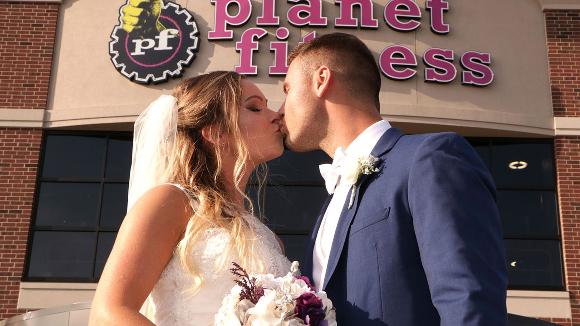 Stephanie Hughes and Joe Keith decided to get married at the Planet Fitness where they fell in love.