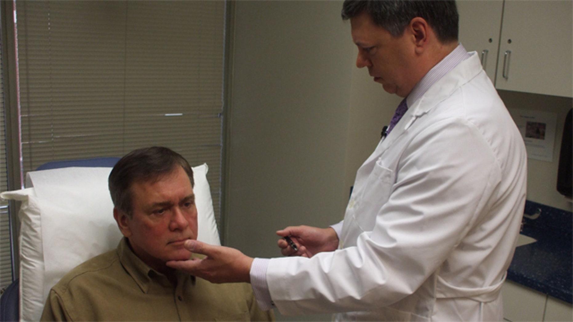Plastic surgery patient Joe Marek and Stephen Baker, MD, an ASPS Member Surgeon.