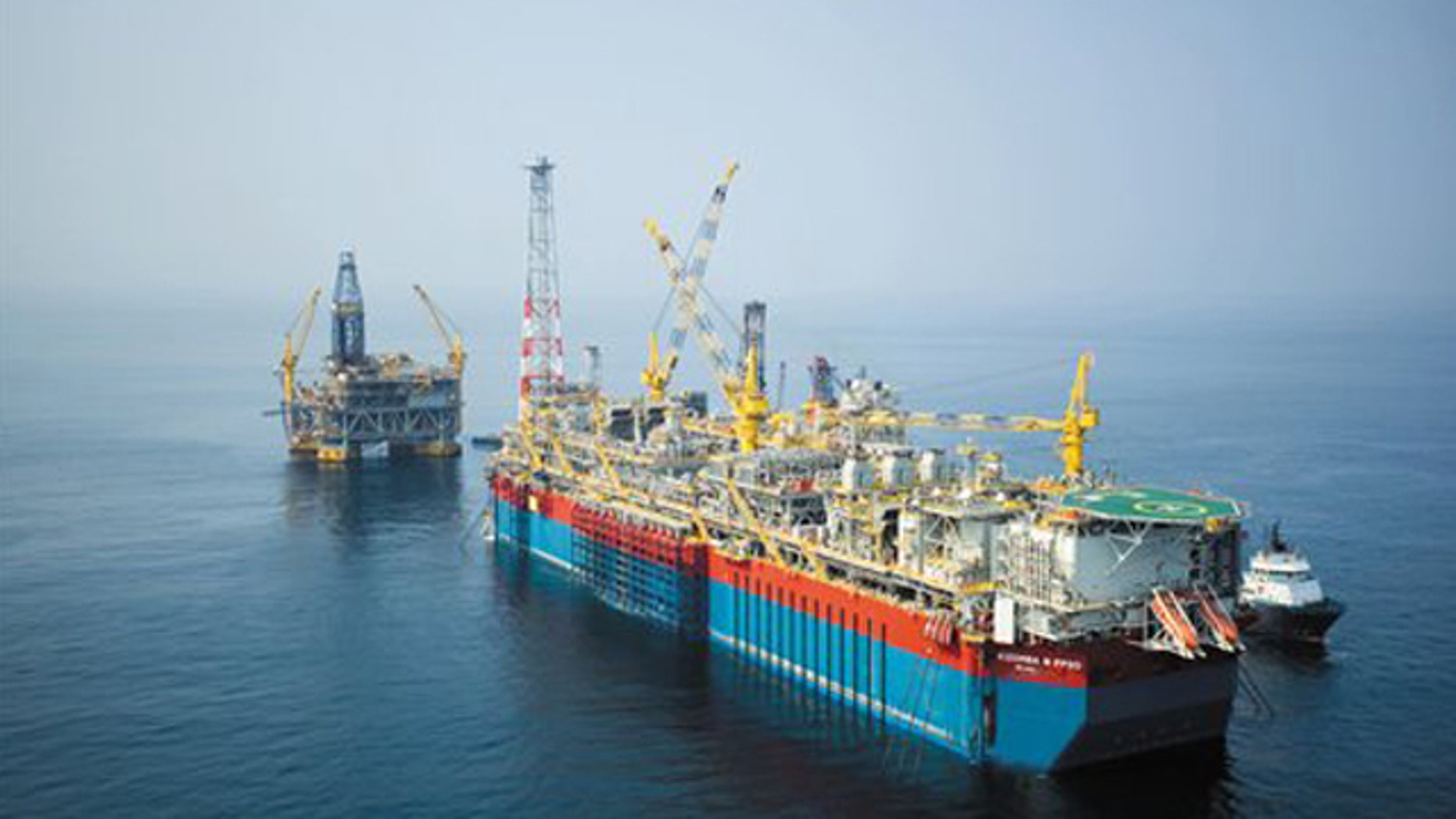 Shown here is the Kizomba B development in Angola Block 15, a deepwater drilling project.