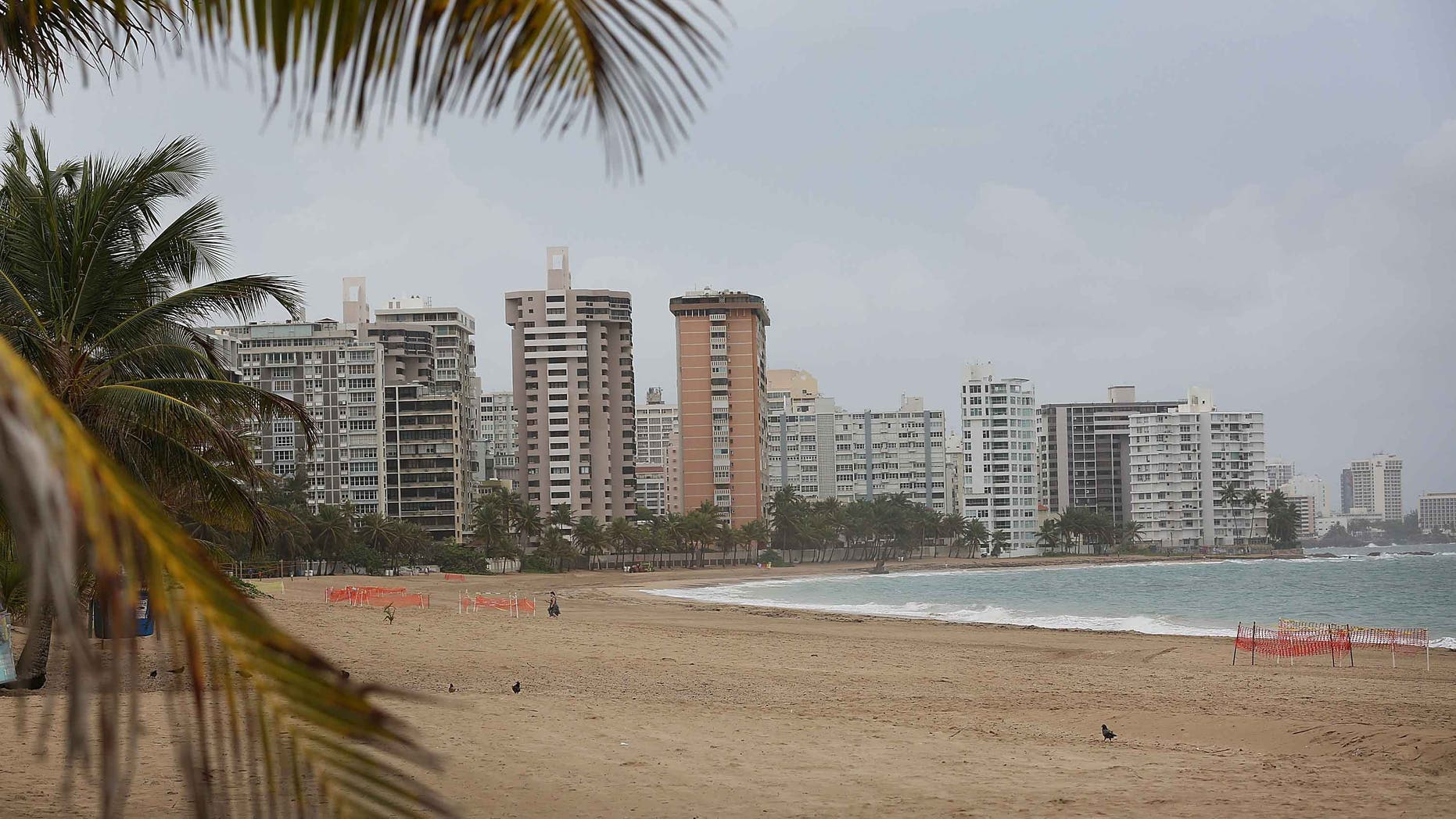Empty beach in San Juan, Puerto Rico, on July 1, 2015.