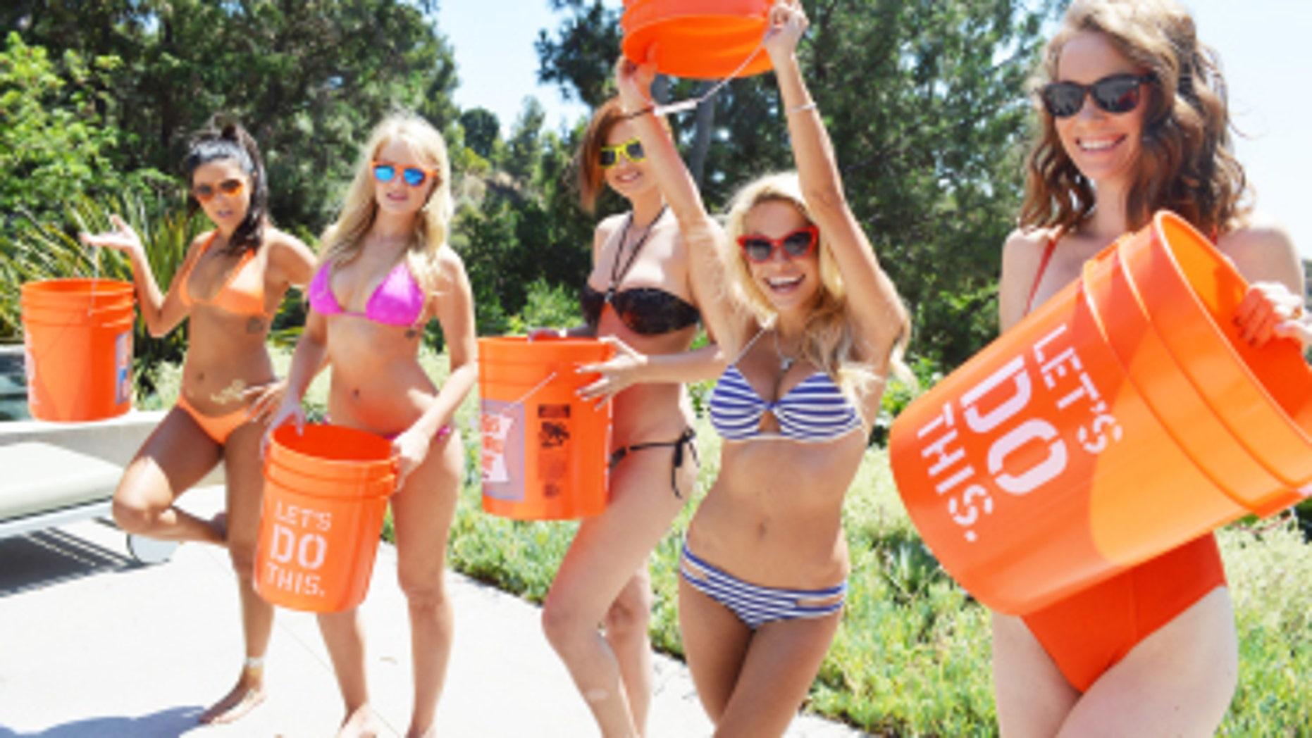 Five Playmates take on the Ice Bucket Challenge.