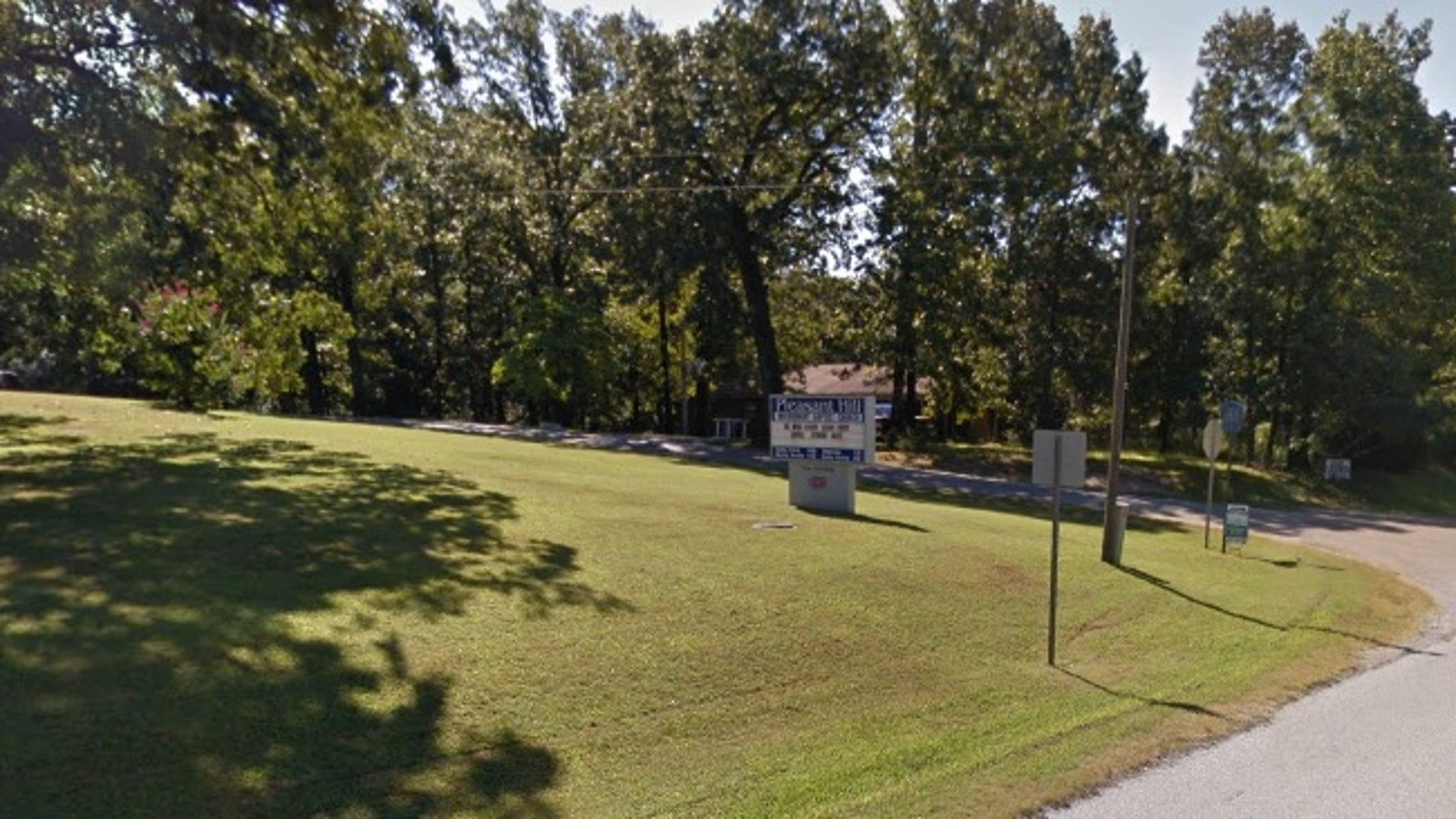 The cemetery was located near Pleasant Hill Missionary Baptist Church in Arkansas.