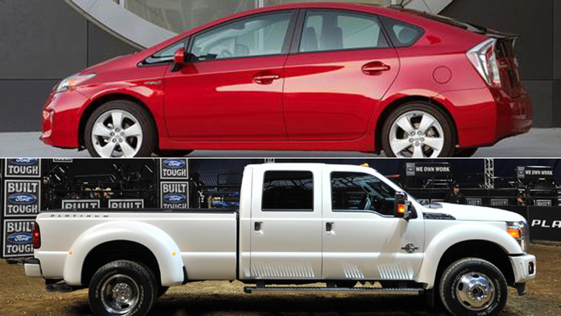 2013 Toyota Prius/2013 Ford F-Series Super Duty Platinum