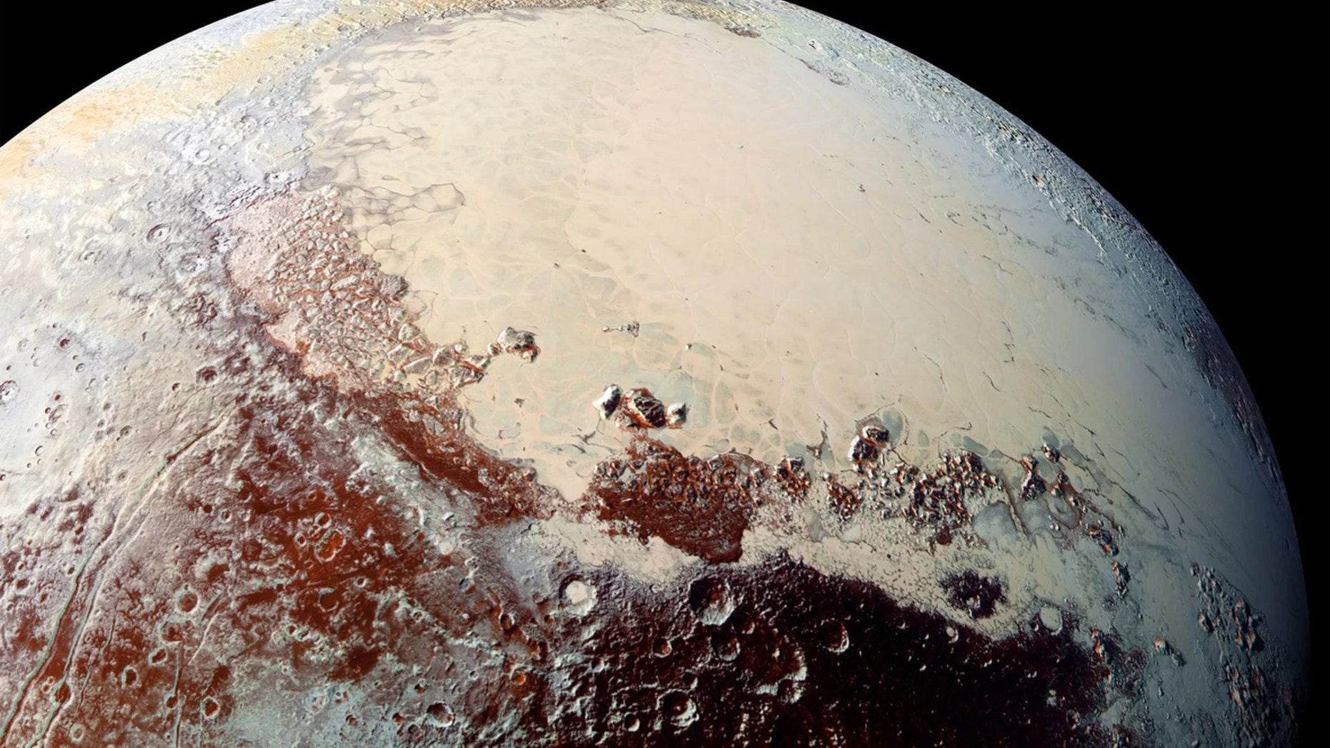 This view of Pluto's Sputnik Planitia nitrogen-ice plain was captured by NASA's New Horizons spacecraft during its flyby of the dwarf planet in July 2015. Credit: NASA/JHUAPL/SwRI