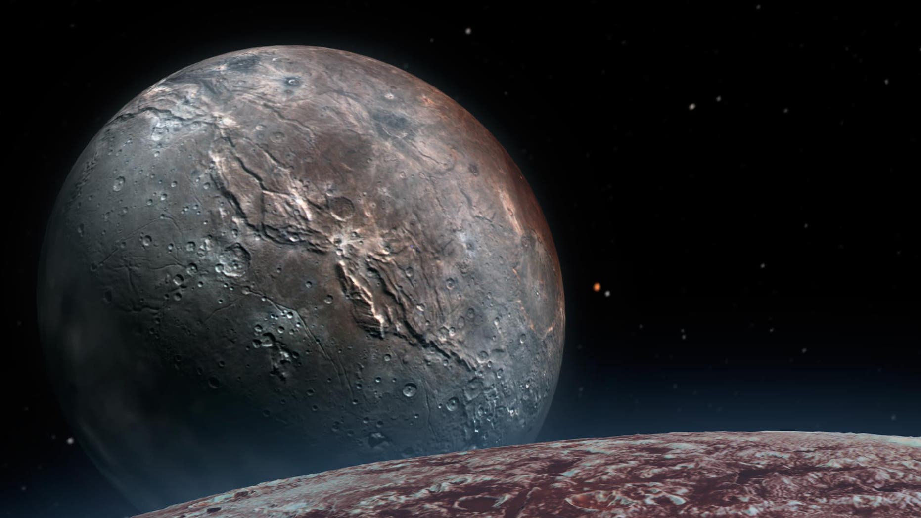 Viewers can explore distant Pluto with a new addition to the New York Times virtual reality app, using only a smartphone and a Google Cardboard virtual reality viewer (or just the smartphone).