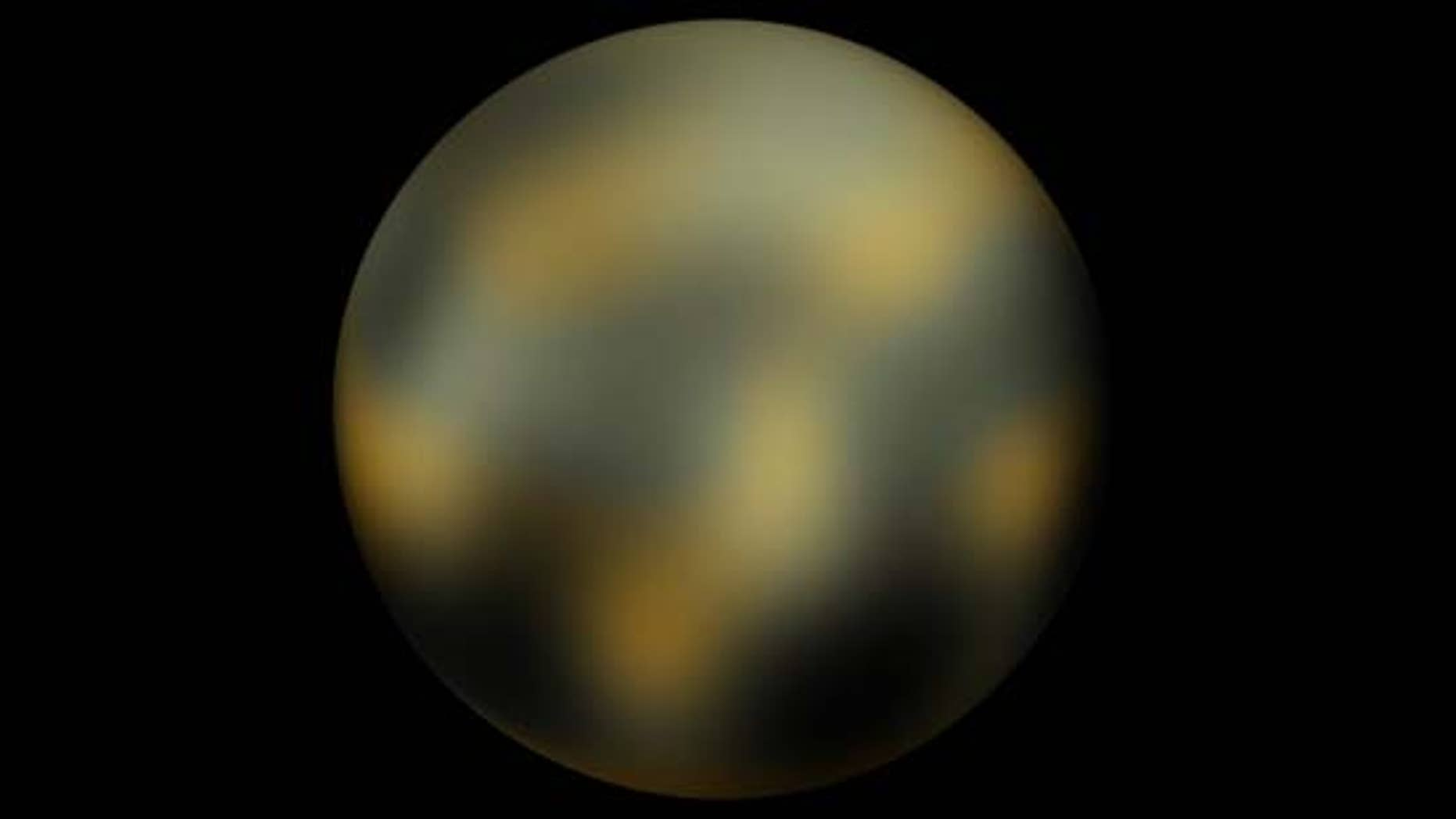 Dwarf planet Pluto is seen in an image taken by the Hubble Space Telescope.