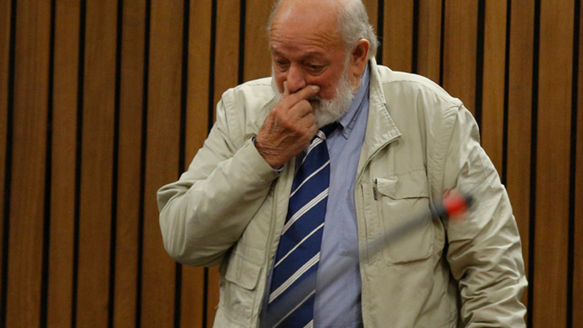 """The father of Reeva Steenkamp told the South African court that he wants Oscar Pistorius """"to pay for what he did."""""""