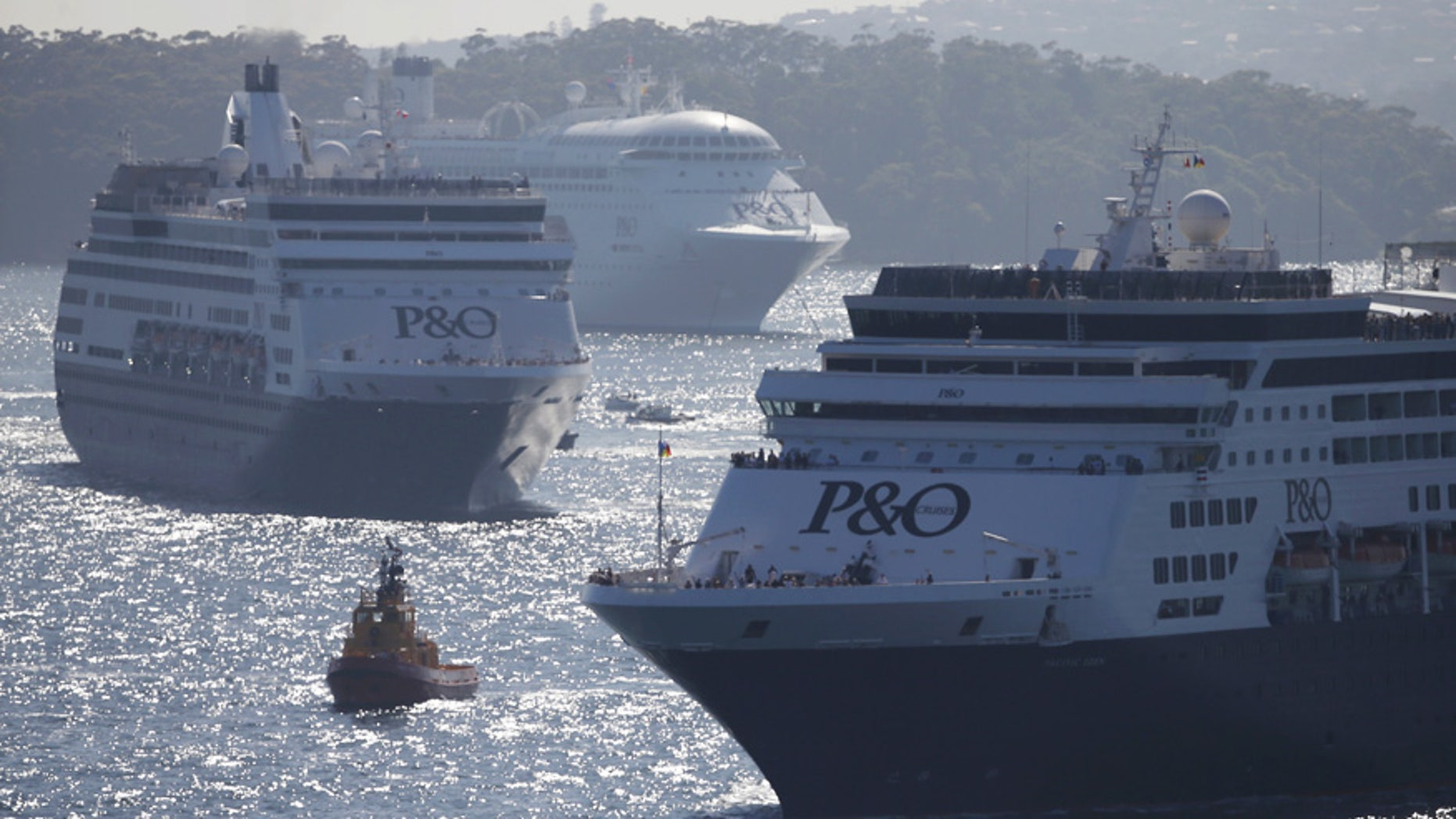 P&O's Pacific Dawn (not pictured) is just looping back to Brisbane, Queensland.
