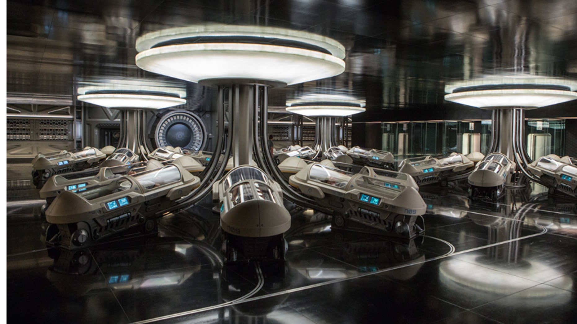 "The hibernation bay in the film ""Passengers."""