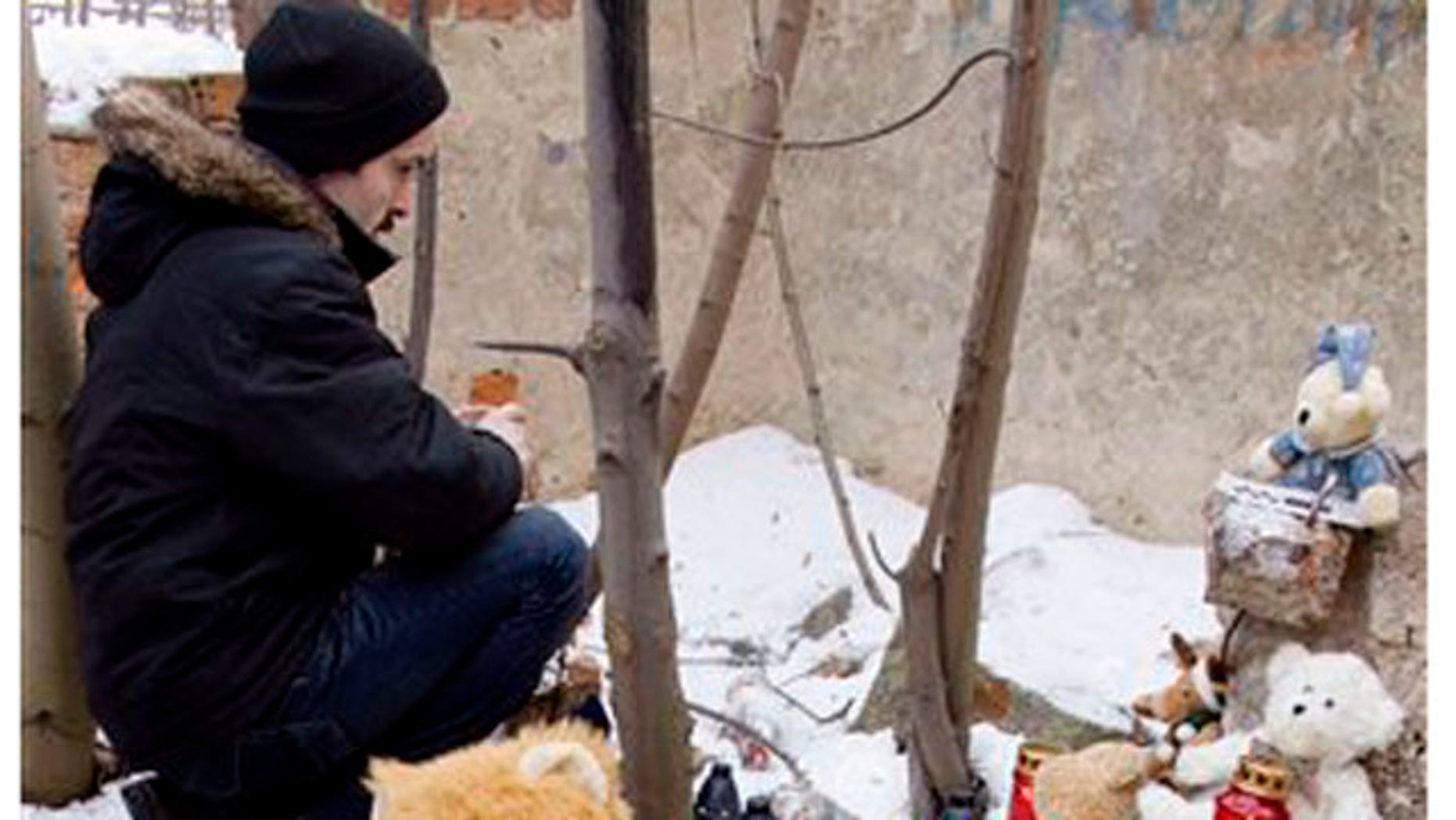 Feb. 5  2012: Toys, candles and flowers are left at a park where a mother buried her child and then sparked a nationwide search by falsely claiming she had been kidnapped, in Sosnowiec, southern Poland.