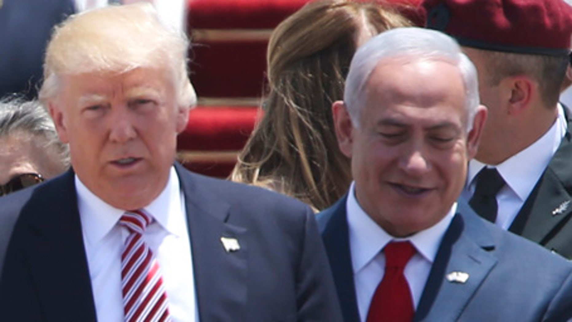 President Donald Trump in Tel Aviv May 22, 2017