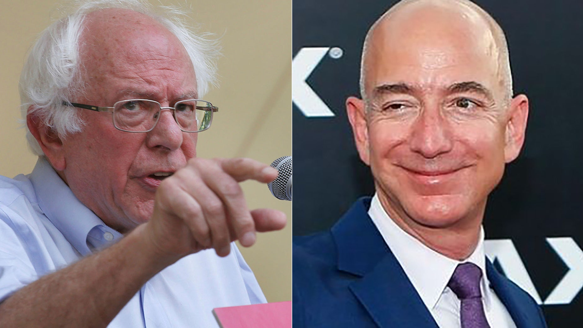 Bernie Sanders had words for Amazon CEO Jeff Bezos on Monday.