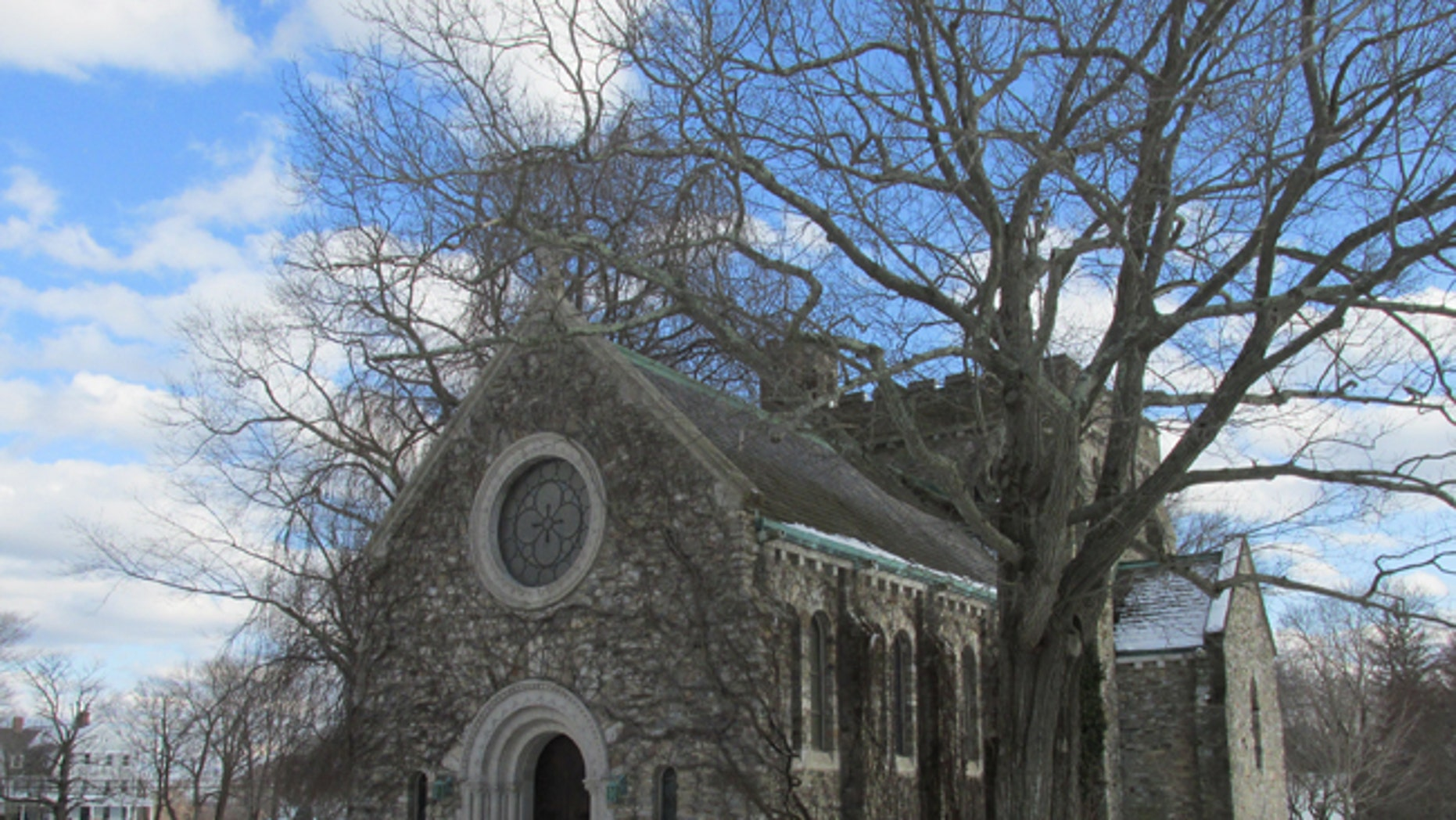 A chapel is seen at the Pomfret School in Connecticut.